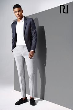 Update your wardrobe for a formal summertime wedding with these men's grey slim suit pants. They'll pair perfectly with all your favourite jackets and shirts and are versatile enough for the office. Pick up a pair at River Island for just £40.