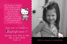 Hello Kitty Invitation :)