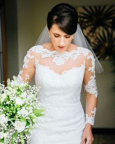 Nerys in the gorgeous Jo gown by Augusta Jones... Real Huw Rees Bride