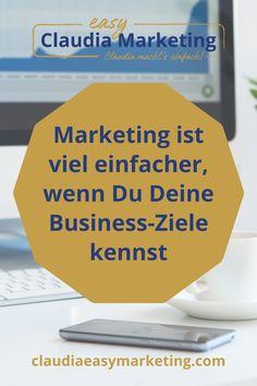Es passiert schnell, dass wir uns in unserem Business verzetteln. Definierst Du Deine Business-Ziele, wird Deine Marketing-Strategie klar. Du erkennst, was wichtig ist und was Dich Deinen Zielen näher bringt. Erfahre mehr über Marketing auf meiner Seite. #claudiaeasymarketing
