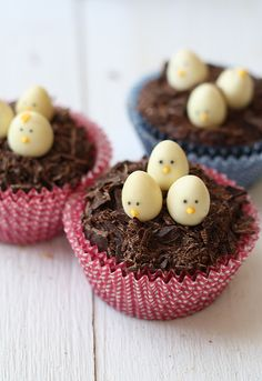chocolate nest cupcakes...