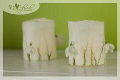 süßes+Windlicht+mit+Schneeglöckchen+von+filzfrieda+...+handgefilzte+fröhlichmacher!+auf+DaWanda.com
