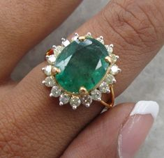 Hey, I found this really awesome Etsy listing at https://www.etsy.com/listing/260132011/500-carats-emerald-diamond-ring-huge