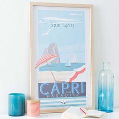 tableau en bois 40 x 67 cm capri paradise maisons du monde