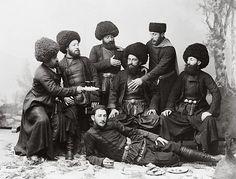 Seven Men in Cossack Costume: Georgia 1888-1900 | Photographium | Historic Photo Archive