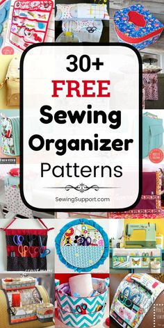 free sewing organizer patterns, projects, and diy tutorials to help - Sewing Patterns Free, Free Sewing, Hand Sewing, Fabric Crafts, Sewing Crafts, Sewing Projects, Diy Projects, Sewing Room Decor, Sewing Rooms