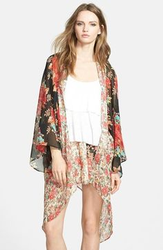 Band of Gypsies Mix Print Handkerchief Kimono
