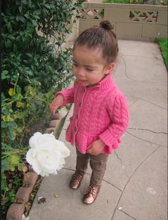 Love the knit! Stylist Monica Rose's daughter Alaia Rose Barbier