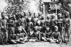 3 September during the Second Anglo-Afghan War, the embassy of Sir Louis Cavagnari in Kabul was massacred by mutinous Afghan troops.  Depicted below is a group of the Queen's Own Corps of Guides in Afghanistan, taken in 1880.