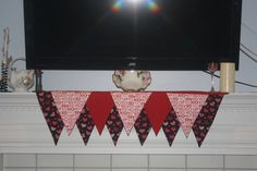 Hearts, Sentiments, and Red Mantel Scarf