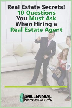 Finding a good realtor is tricky. Make sure you ask all of these questions and have the facts when you're looking for a good real estate agent. #home #homebuying #homebuyer #firsttimehomebuyer New Home Checklist, Moving Checklist, Home Buying Tips, Buying Your First Home, Find A Realtor, Estate Lawyer, First Time Home Buyers, Real Estate Tips, New Homeowner
