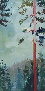 Big Pine by Lisa Mahony Acrylic ~ 24 x 12