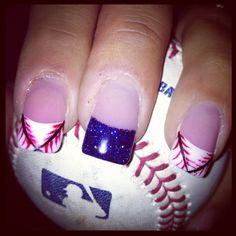 Baseball nails#Repin By:Pinterest++ for iPad#