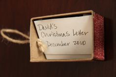 Yearly Christmas Letter: parents write kids a special letter summarizing the year and how much that child means to them, enclose letter in a homemade ornament and hide in tree. Each child gets to find and read their special letter. Traditions To Start, Family Traditions, Christmas Traditions, Christmas Love, Christmas Holidays, Christmas Crafts, Christmas Ornaments, Christmas Morning, Christmas Letters