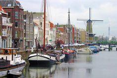 Ship harbor in Amsterdam