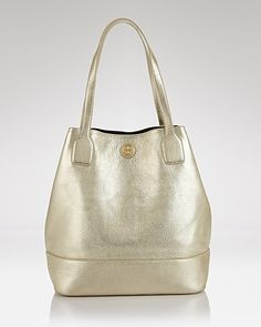 Tory Burch Tote - Michelle Metallic - Handbags - Bloomingdale's