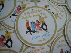Fresh Beat Band Party Favor Tags 12 pack each by Lilmisscupcake2, $6.00