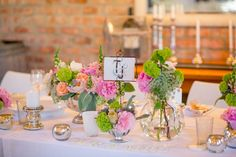 Mint & Peach Rockhaven Wedding by Tasha Seccombe {Tam & Jim} Centrepieces, Wedding Centerpieces, Wedding Table, Wedding Ideas, May Weddings, Country Chic, Colorful Flowers, Mason Jars, Wedding Flowers