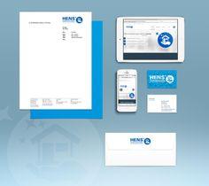 Das neue Corporate Design der Firma Hens Dienstleistungen! Schönes Projekt mit einem mehr als zufriedenen Kunden! So macht arbeiten Spaß... Corporate Design, Desktop Screenshot, Projects, Nice Asses, Brand Design, Branding Design