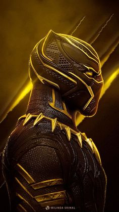 Marvel - Black Panther in Yellow Black Panther Marvel, Black Panther Art, Marvel Vs, Marvel Dc Comics, Marvel Heroes, Marvel Fight, Marvel Characters, Marvel Movies, Thanos Avengers