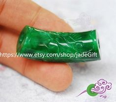 Free shipping natural green jade carved luck Round by jadeGift, $26.99