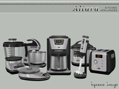 Altara Kitchen Appliances by NynaeveDesign at TSR • Sims 4 Updates