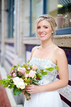 Beautiful Bride Anne by Elisha Clarke | www.onefabday.com | Flowers by www.lesfleurs.ie