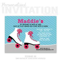 free roller skating party invitation template to print