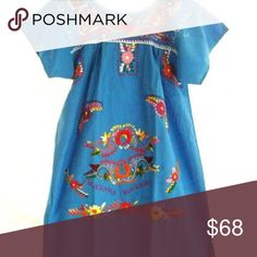 2062b079e83 Dress Mexican Hand Embroidered Tunic Tent Vintage Mexican embroidered mini  vintage dress