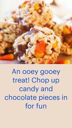 Halloween Deserts Recipes, Fall Desserts, Halloween Treats, Halloween Fun, Pumpkin Recipes, Fall Recipes, Yummy Recipes, Yummy Food, Popcorn Recipes