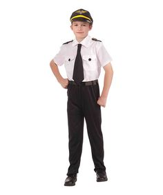 Look at this #zulilyfind! White Pilot Dress -Up Set - Boys #zulilyfinds