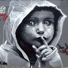 Silence #kid #street #streetart #graff #graffiti #instagood #love #art #artist #rooble #nice #cute #beautiful #artderue #arturbain #rsa_graffiti #DSB_Graff #wallart #sprayart #kiffmalife @jeanrooble