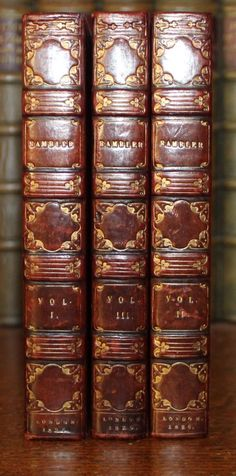 1826 The Rambler Samuel Johnson 3 Vols Fine Full Polished Calf Binding Old Books, Antique Books, Bookstores, Libraries, Books To Read Nonfiction, Screenwriters, Beautiful Library, Treasure Chest, Bookbinding