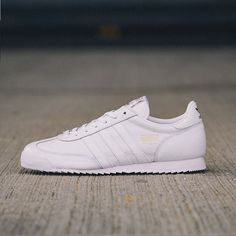 "5b6ae3203f74 scotts on Instagram  ""The  adidasoriginals  Dragon in  white  leather is  £55 (182089) get  free delivery to over 500 stores when you order online."""