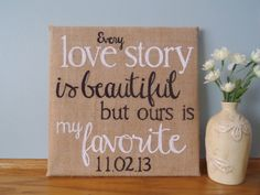 Check out this item in my Etsy shop https://www.etsy.com/listing/184648729/customizable-burlap-canvas-sign-12x12
