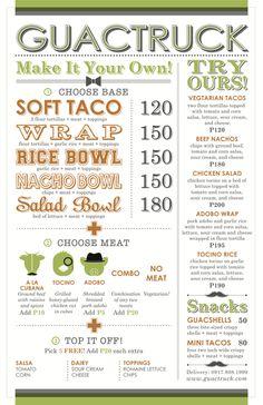 Guactruck | Filipino Mexican Cuisine Menu Branding
