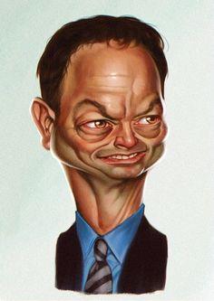Gary Sinise #caricatura #art #Caricature #cool