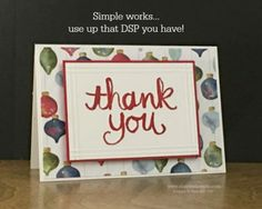 Pals Paper Crafting Card Ideas Watercolor Thank You Mary Fish Stampin Pretty StampinUp Christmas Thank You, Homemade Christmas Cards, Christmas Paper, Homemade Cards, Winter Christmas, Christmas Crafts, Xmas Cards, Holiday Cards, Greeting Cards