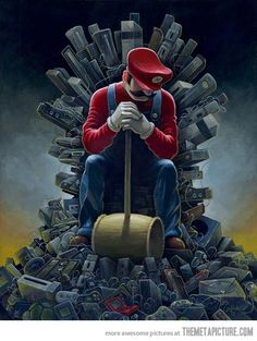 Mario's Throne of Games. I see what you did there. (--,)