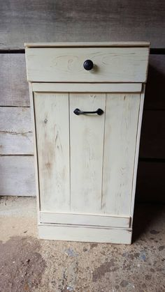 how build kitchen cabinets tilt out trash bin wood trash can by repurposemama on etsy 16643