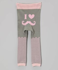 Look what I found on #zulily! Pink 'I Love Mustaches' Leggings - Infant by Doodle Pants #zulilyfinds