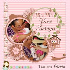 Scrapbook corujinhas. kit digital corujitas- by Lu Ifanger Designer