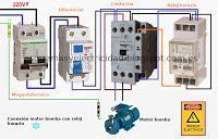 Esquemas eléctricos: Conexión motor bomba con reloj horario
