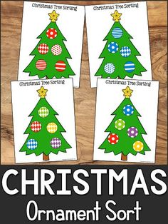 This Christmas Sorting printable will help your Pre-K learners practice preschool Math skills by sorting the ornaments in two different ways. Christmas Poems, Christmas Math, Christmas Activities For Kids, Preschool Christmas, Preschool Crafts, Christmas Holidays, Kid Crafts, Colorful Christmas Tree, Christmas Colors