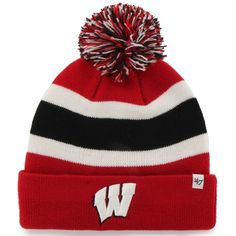 '47 Brand Wisconsin Badgers Cardinal Breakaway Knit Beanie. '