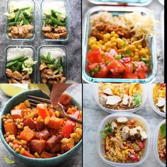 Thanks agatariley for this Meal Prep Lunch Recipes.These 38 easy lunch meal prep ideas prove that eating healthy can be delicious and is anything but boring! A little prep work on the weekend will set you up to eat healthier, save money# HEALTHY Easy Meal Prep Lunches, Prepped Lunches, Meal Prep Bowls, Healthy Meal Prep, Easy Meals, Healthy Student Meals, Healthy Food Ideas To Lose Weight, Easy College Meals, Student Food