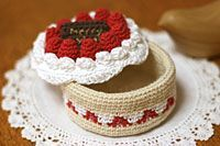 Small box of cake crochet Patissier