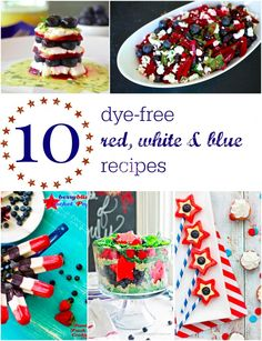 Dye-free Red White and Blue Patriotic Recipes