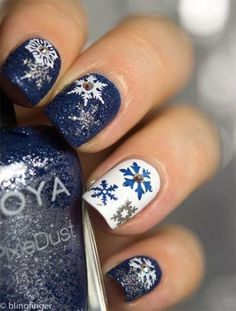 Trendy Nail Art Designs For Winter 2016