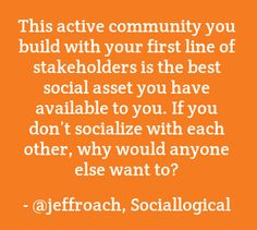 Your Brand Community...why you do what you do